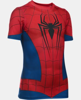 New Arrival Boys' Under Armour® Alter Ego Spider-Man Fitted Shirt  1 Color $49.99