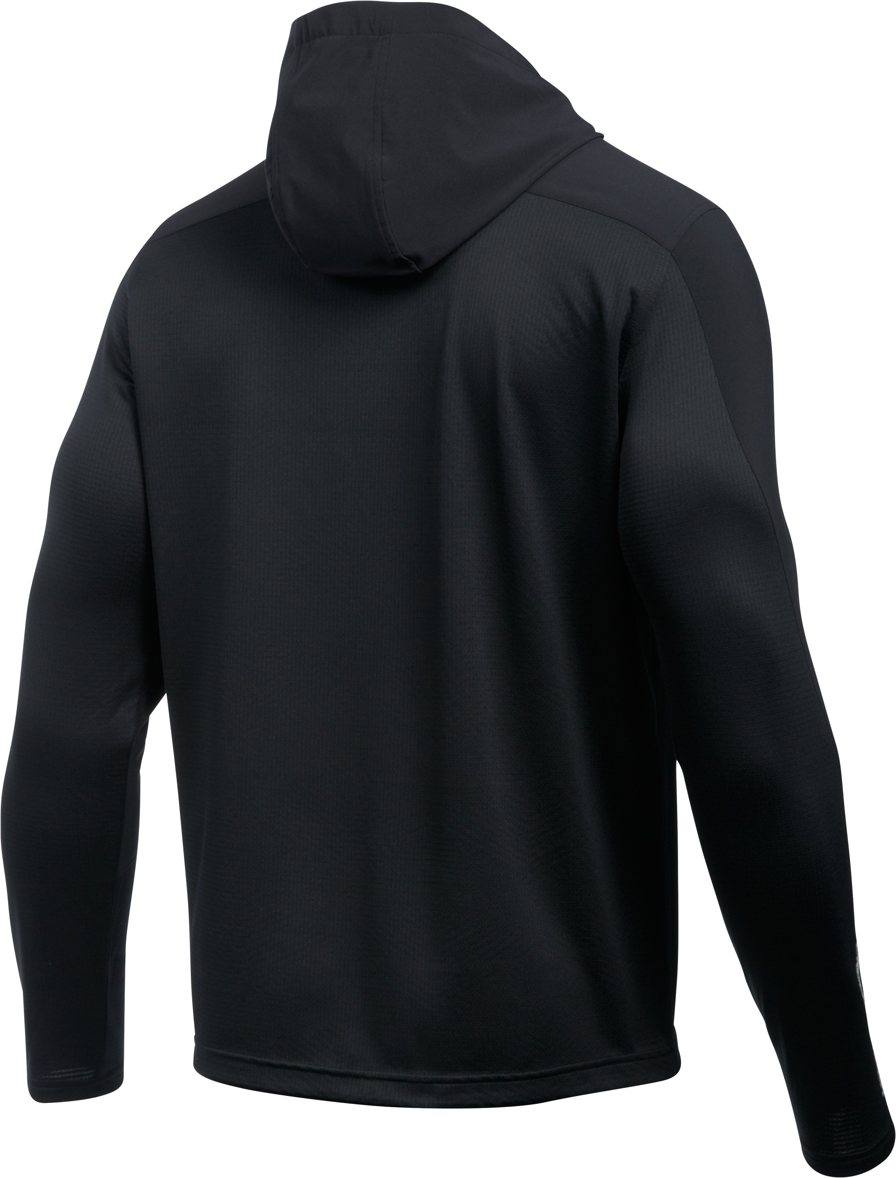 Men's UA ColdGear® Infrared Grid Pullover Hoodie, Black , undefined