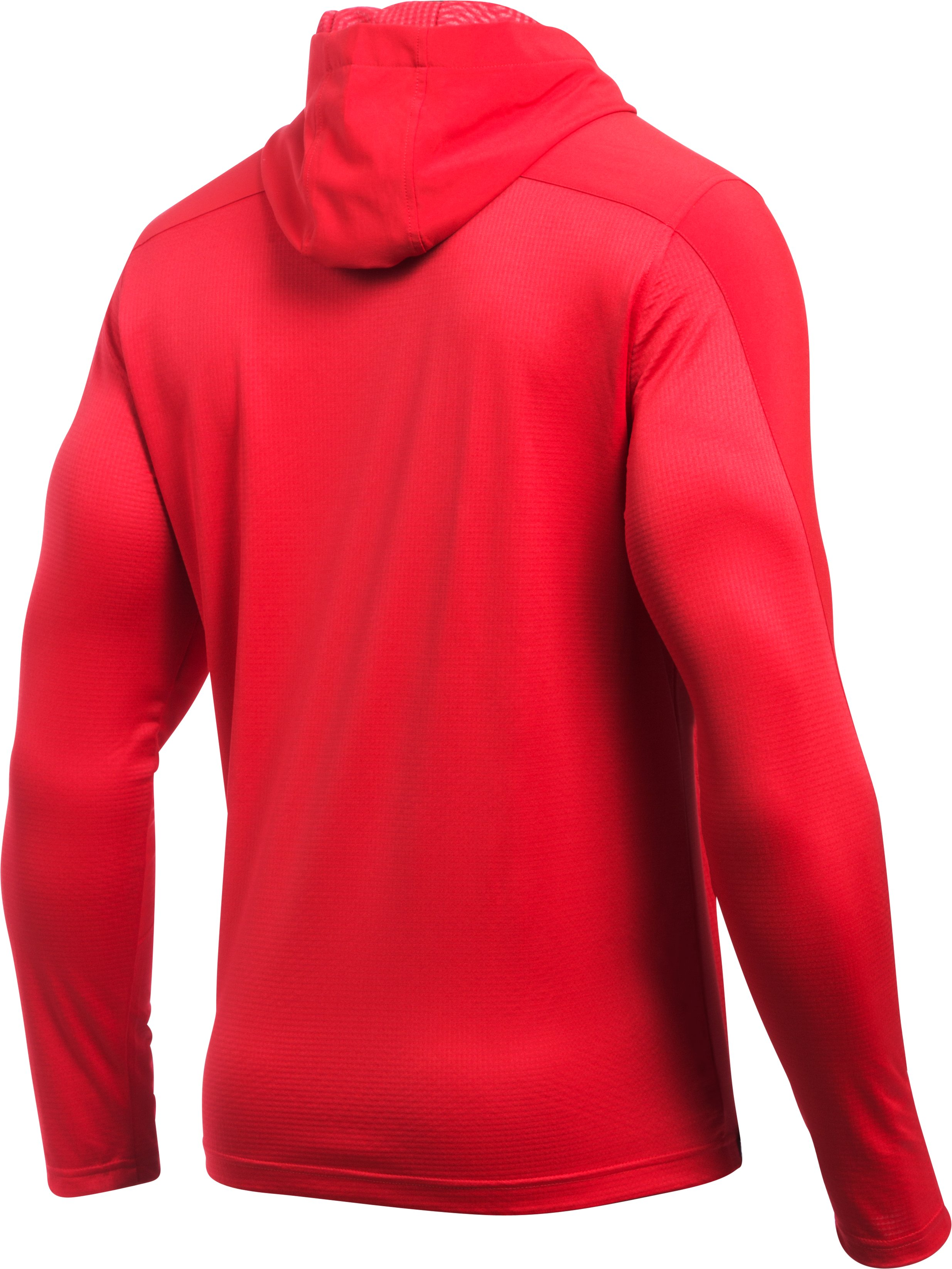 Men's UA ColdGear® Infrared Grid Pullover Hoodie, Red, undefined