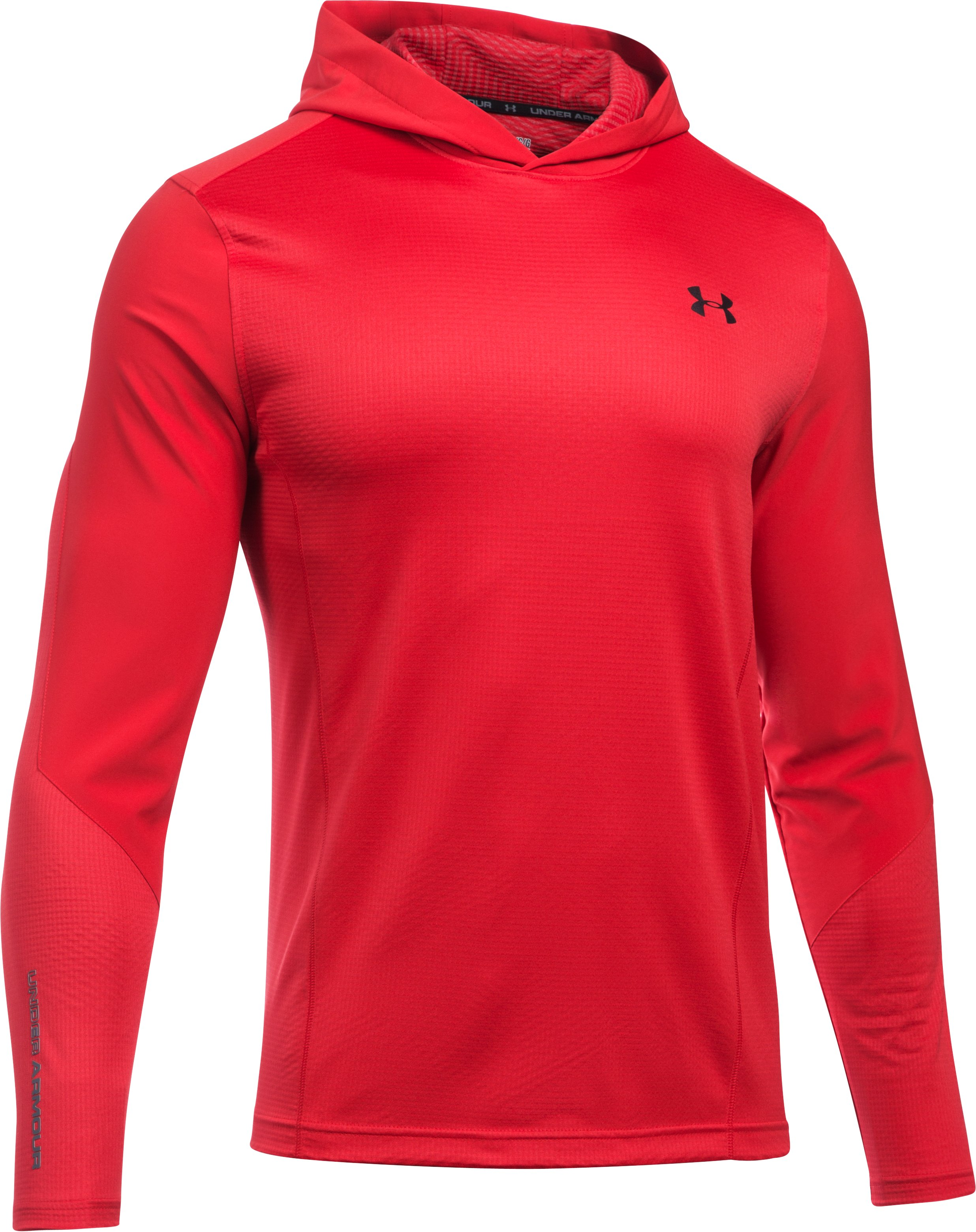 Men's UA ColdGear® Infrared Grid Pullover Hoodie, Red