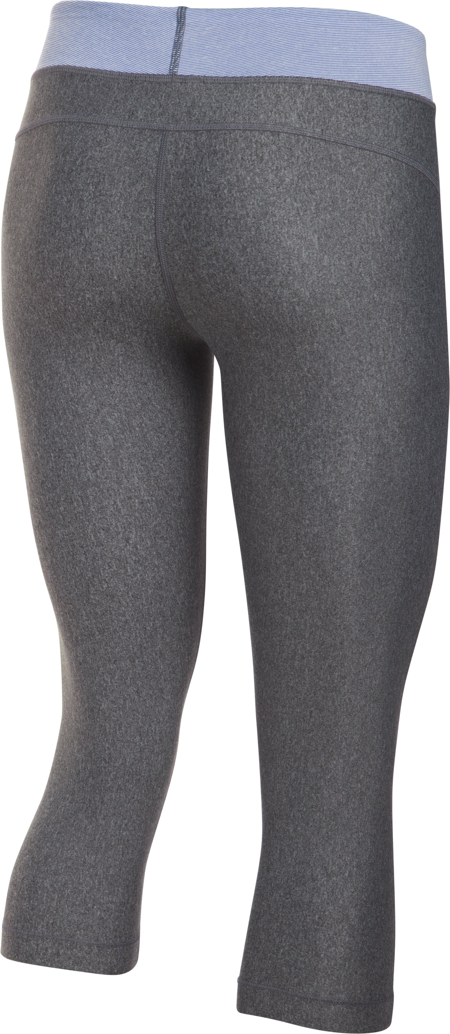 "Women's UA HeatGear® Armour 18"" Sport Capri  , Carbon Heather"