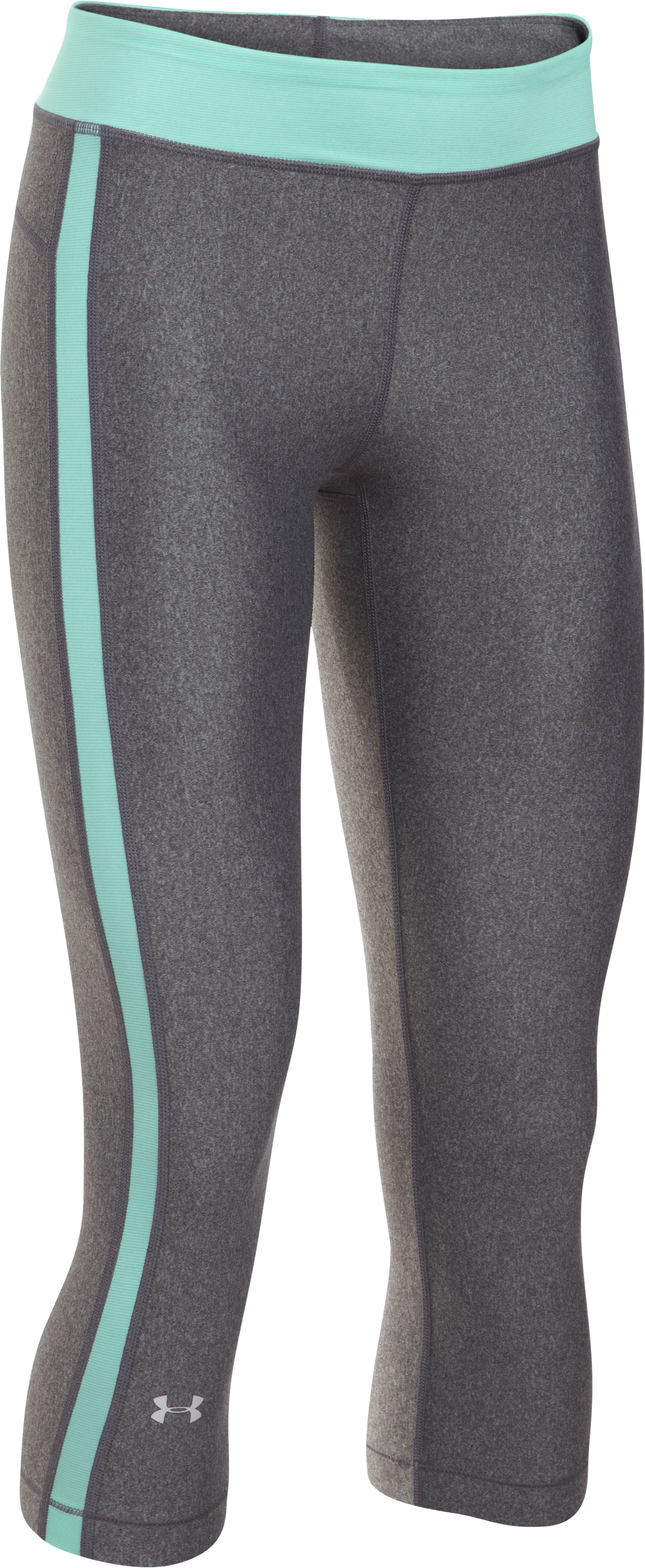 "Women's UA HeatGear® Armour 18"" Sport Capris, Carbon Heather"