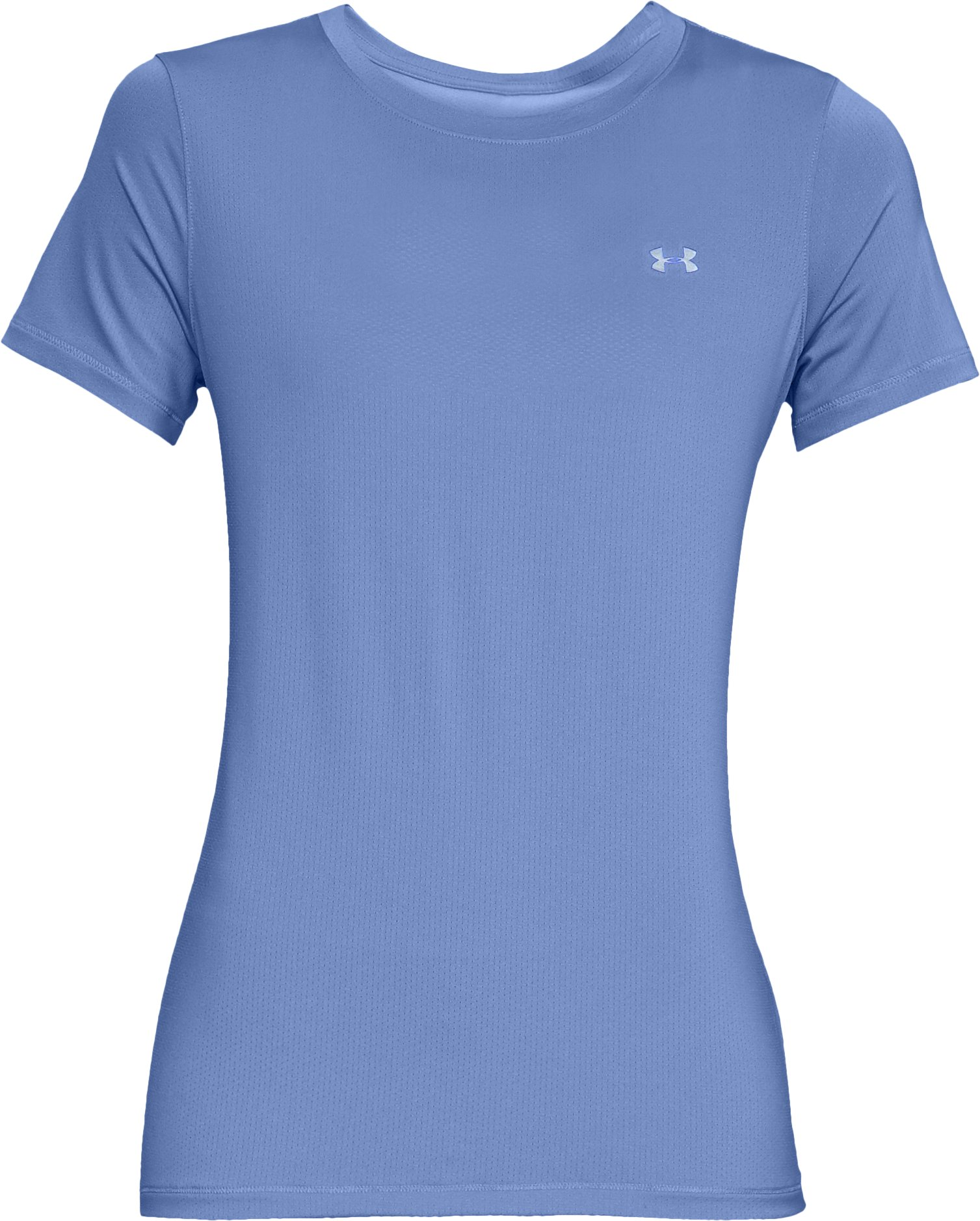Women's UA HeatGear® Armour Short Sleeve, TALC BLUE,