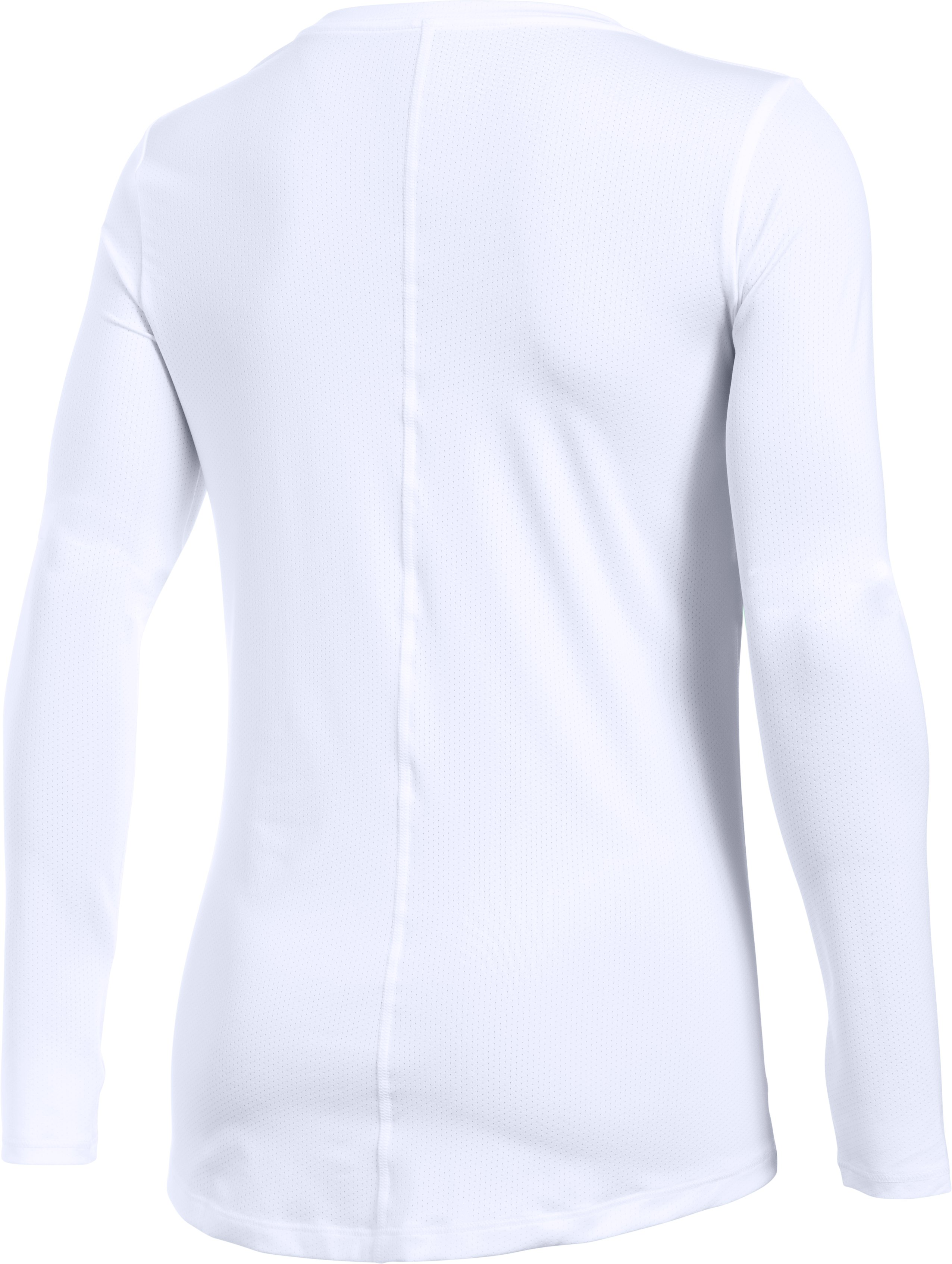 Women's UA HeatGear® Armour Long Sleeve, White,