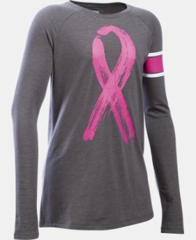 New Arrival Girls' UA Power In Pink® Ribbon Long Sleeve LIMITED TIME: FREE SHIPPING 1 Color $34.99