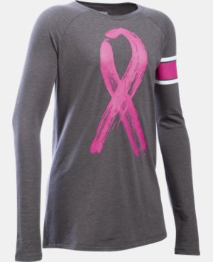 Girls' UA Power In Pink® Ribbon Long Sleeve T-Shirt LIMITED TIME: FREE U.S. SHIPPING 1 Color $26.99