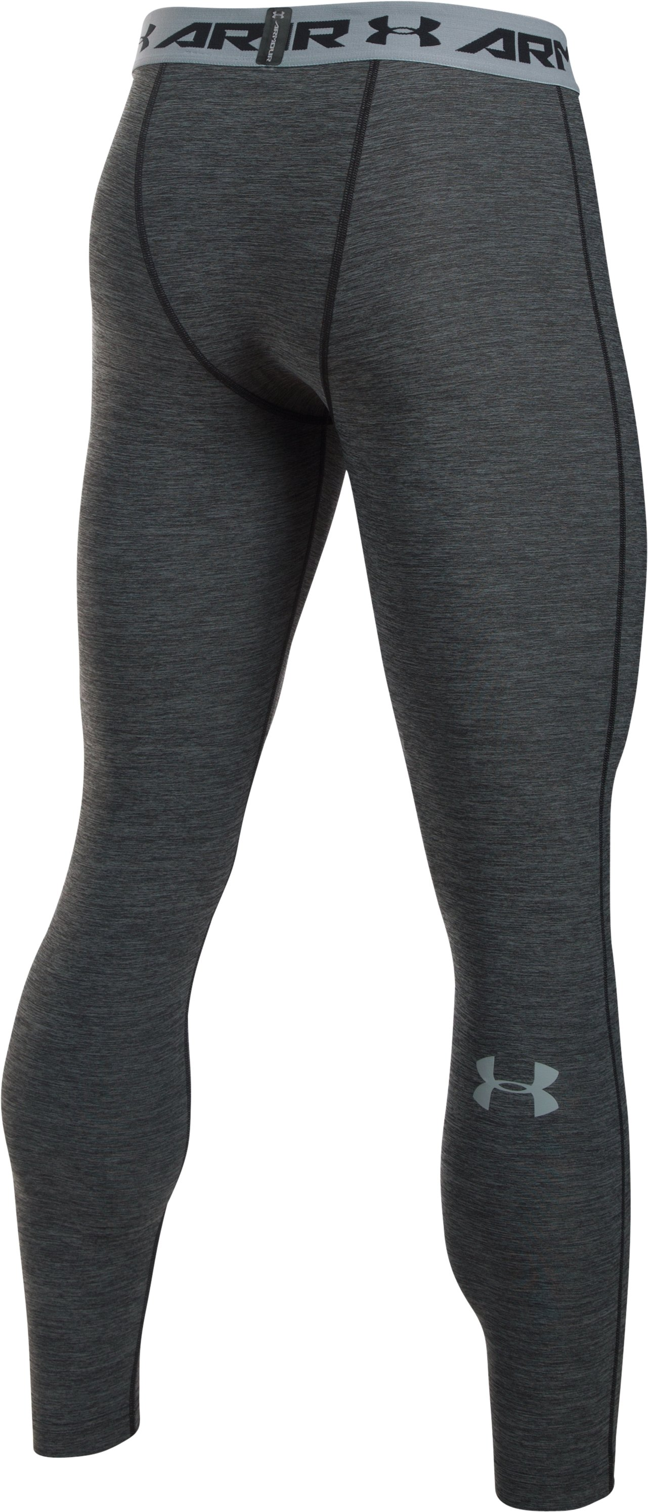 Men's UA HeatGear® Armour Twist Compression Leggings, Black , undefined
