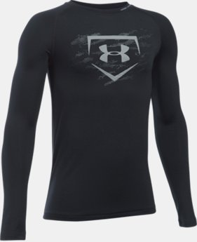 Boys' UA Diamond Long Sleeve Shirt  1 Color $34.99