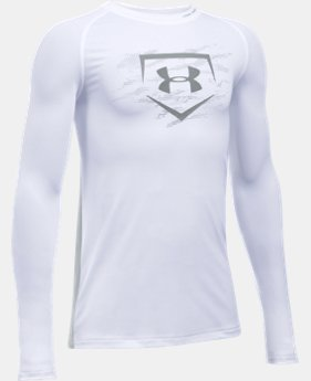 Boys' UA Diamond Long Sleeve Shirt  1 Color $26.99