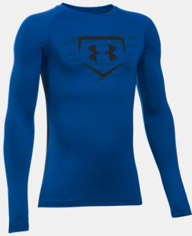 New Arrival Boys' UA Diamond Long Sleeve Shirt  4 Colors $34.99