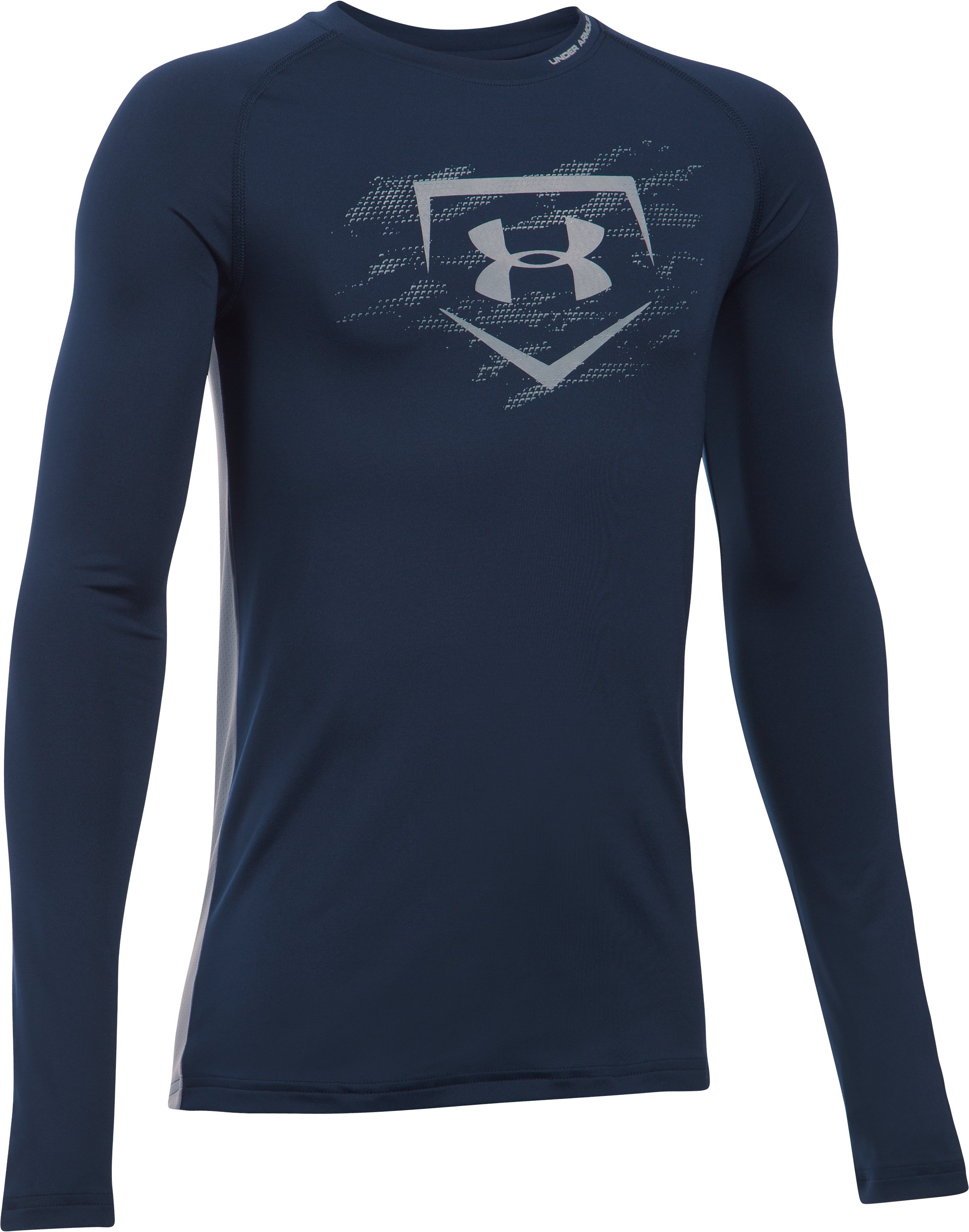 Boys' UA Diamond Long Sleeve Shirt, Midnight Navy