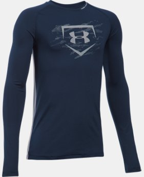 Boys' UA Diamond Long Sleeve Shirt  2 Colors $19.99