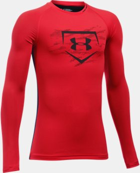 New Arrival Boys' UA Diamond Long Sleeve Shirt  1 Color $34.99