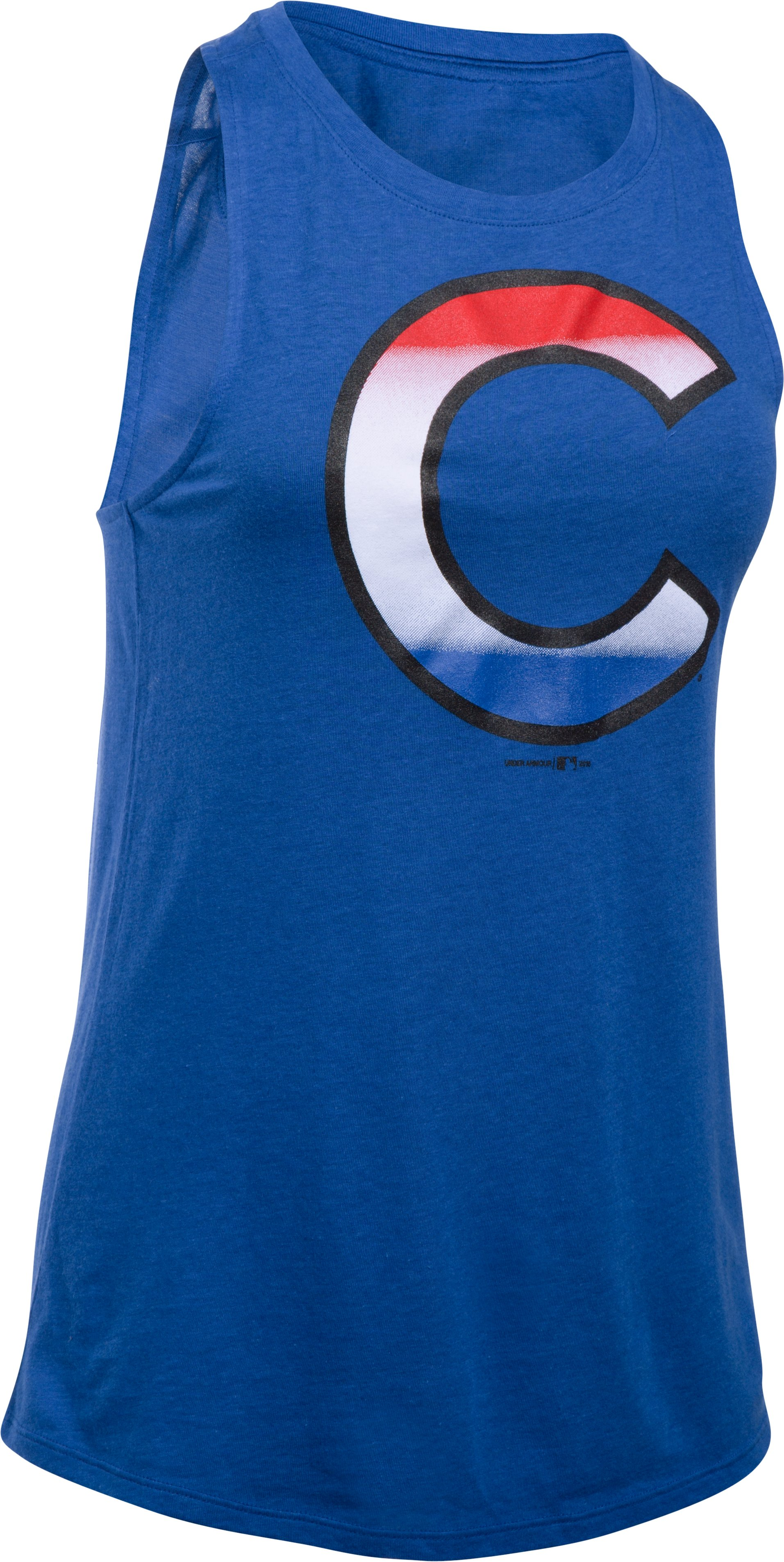 Women's Chicago Cubs 4th of July Cutout Tank, Royal