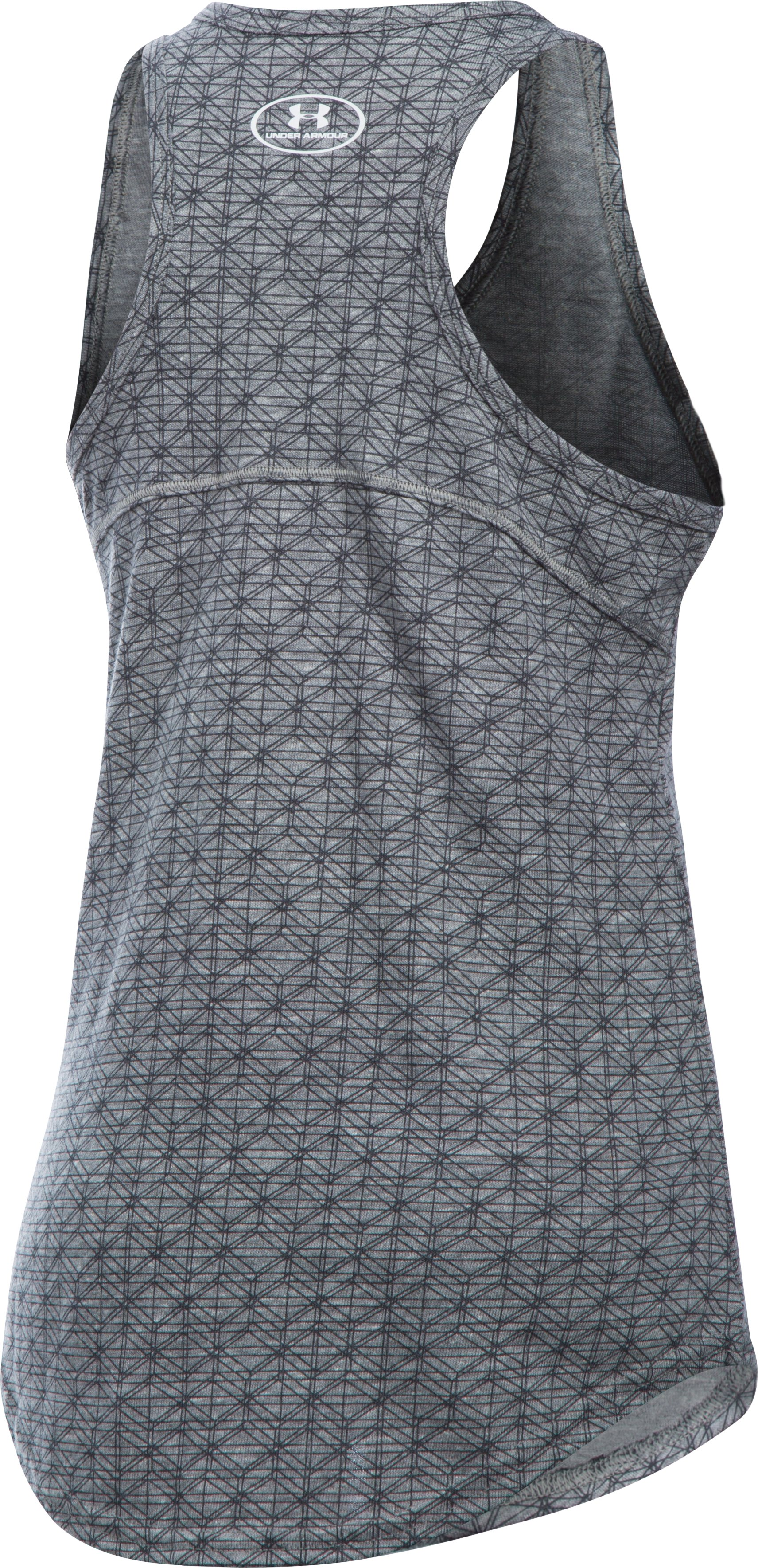 Girls' Chicago Cubs UA Tri-Blend Tank, True Gray Heather, undefined
