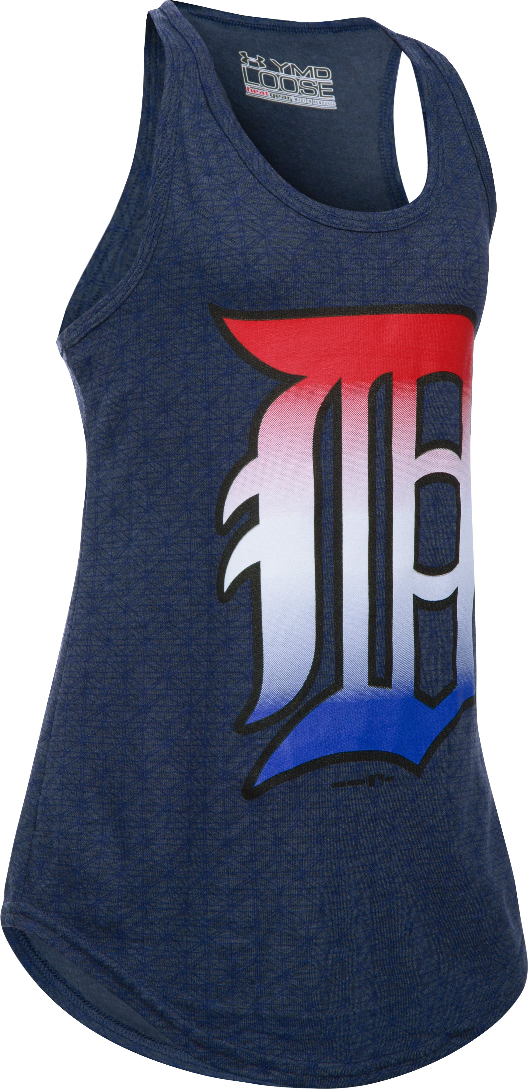 Girls' Detroit Tigers 4th Of July UA Tech™ Tank, Midnight Navy, zoomed image