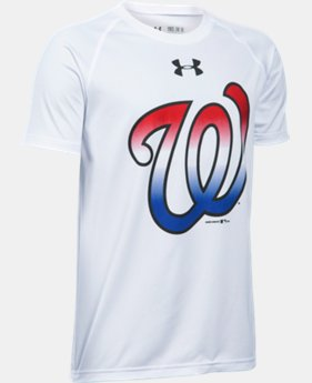 Boys' Washington Nationals UA Tech™ T-Shirt LIMITED TIME: FREE SHIPPING 1 Color $18.99