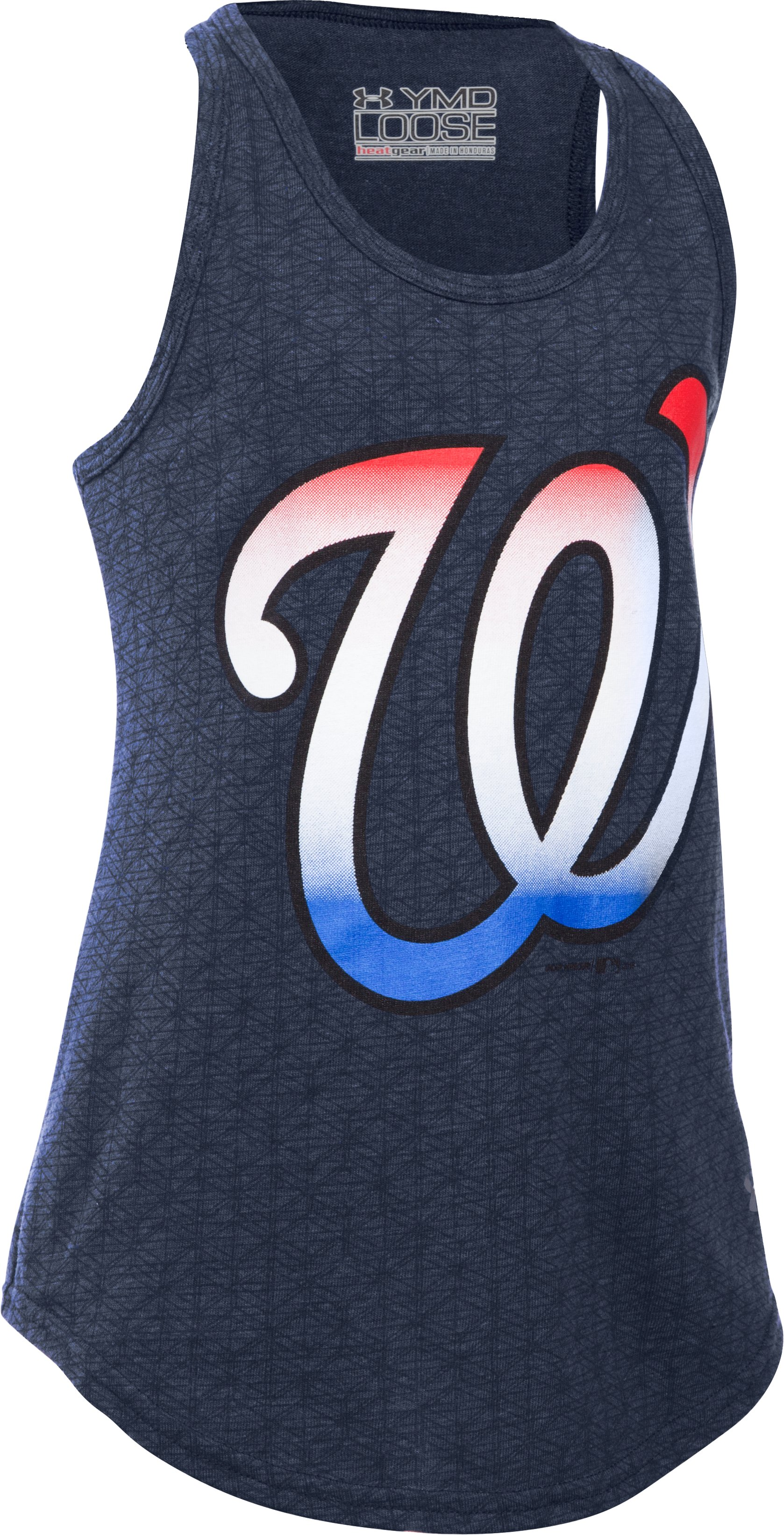Girls' Washington Nationals 4th Of July UA Tech™ Tank, Midnight Navy, zoomed image
