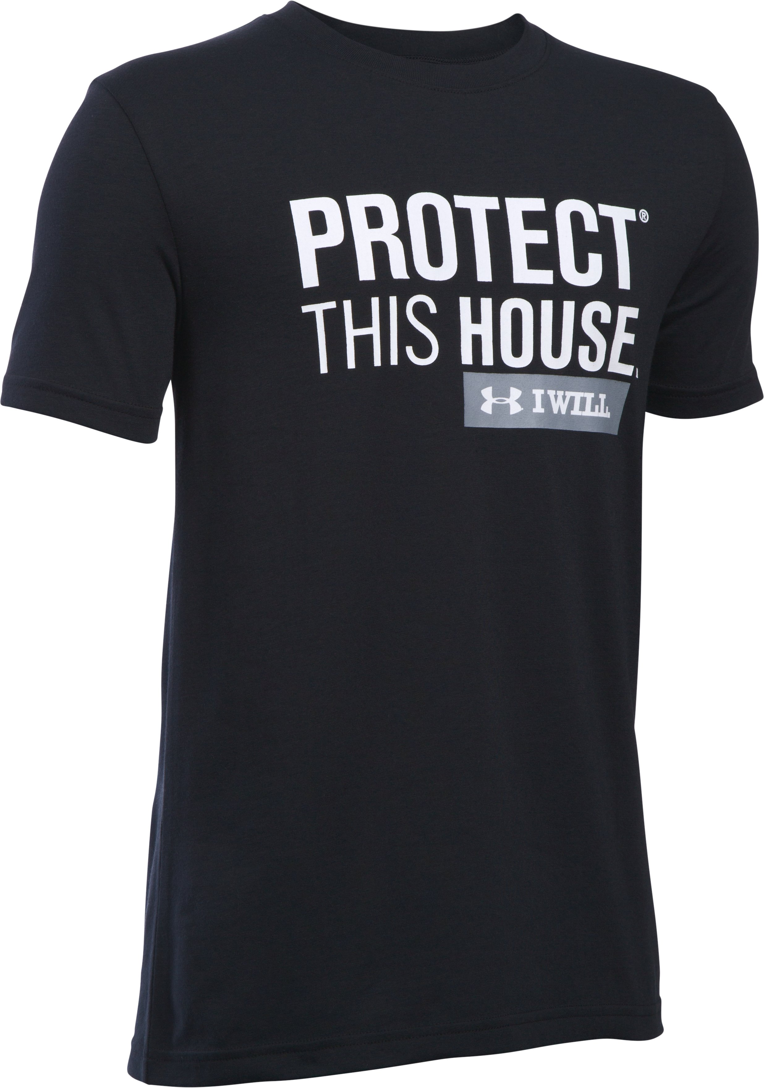 Boys' UA Protect This House Short Sleeve T-Shirt, Black , undefined
