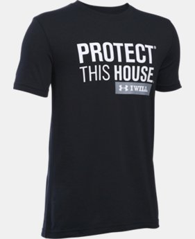 Boys' UA Protect This House Short Sleeve T-Shirt LIMITED TIME: FREE SHIPPING 1 Color $19.99