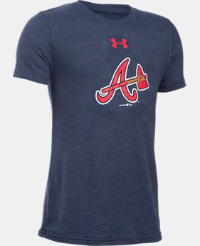 New to Outlet Boys' Atlanta Braves Vintage Tri-Blend T-Shirt  1 Color $17.99