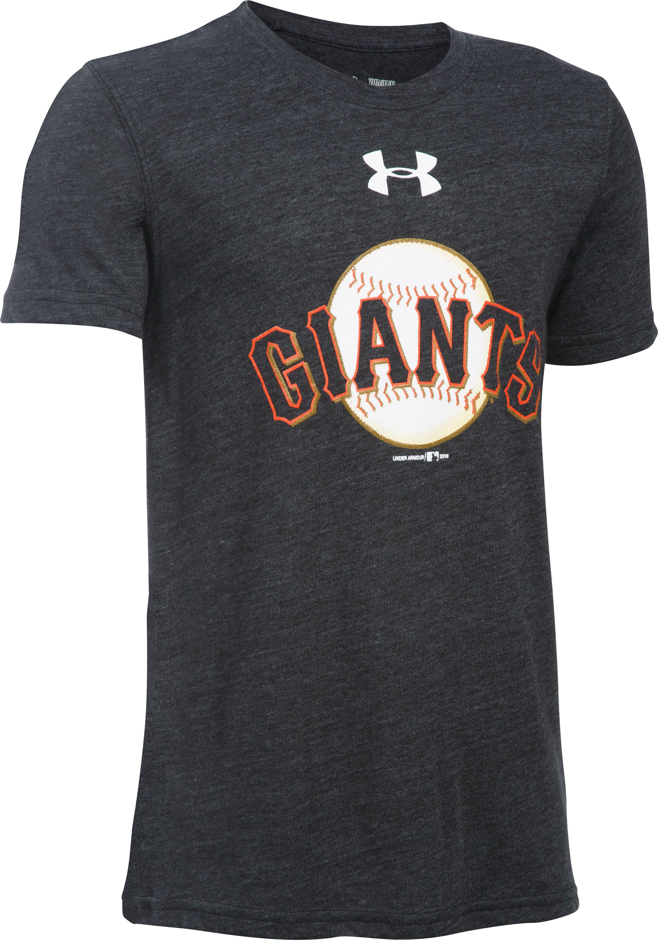 Boys' San Francisco Giants Vintage Tri-Blend T-Shirt, Black ,