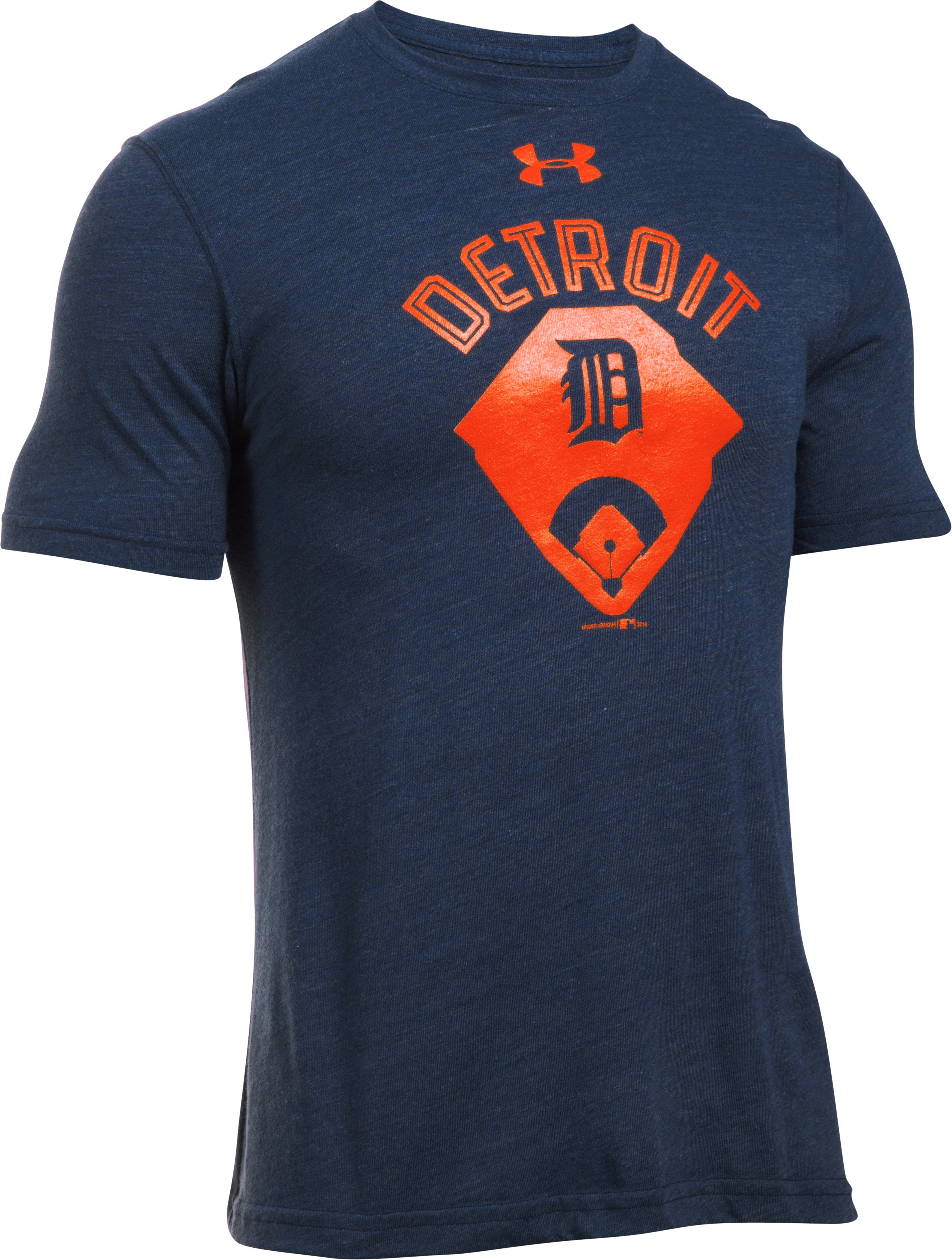 Men's Detroit Tigers Vintage Tri-blend, Midnight Navy