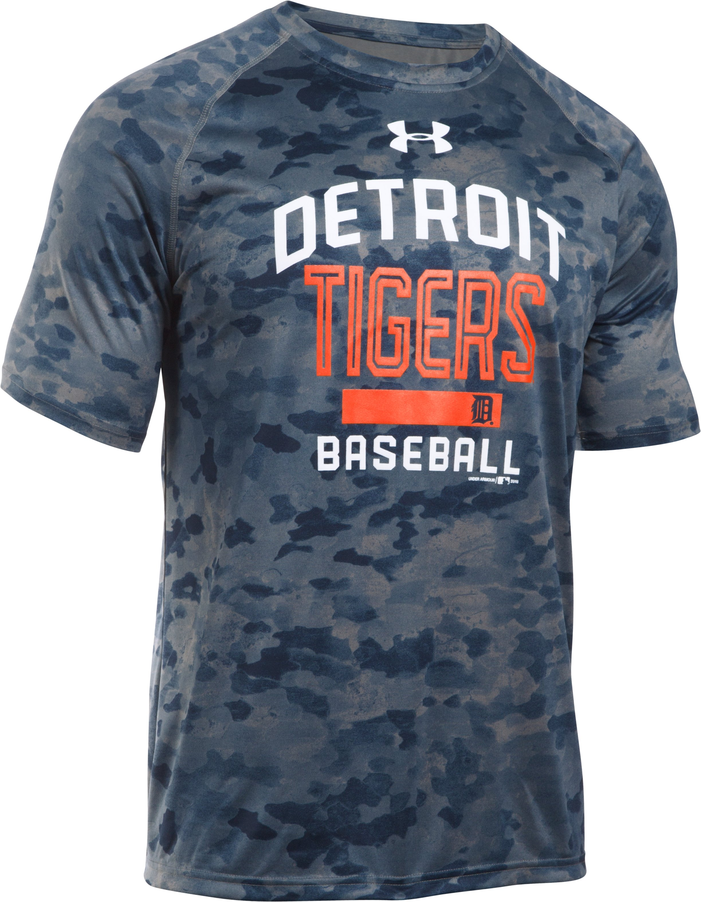 Men's Detroit Tigers Camo Tech™ T-Shirt, Midnight Navy, undefined