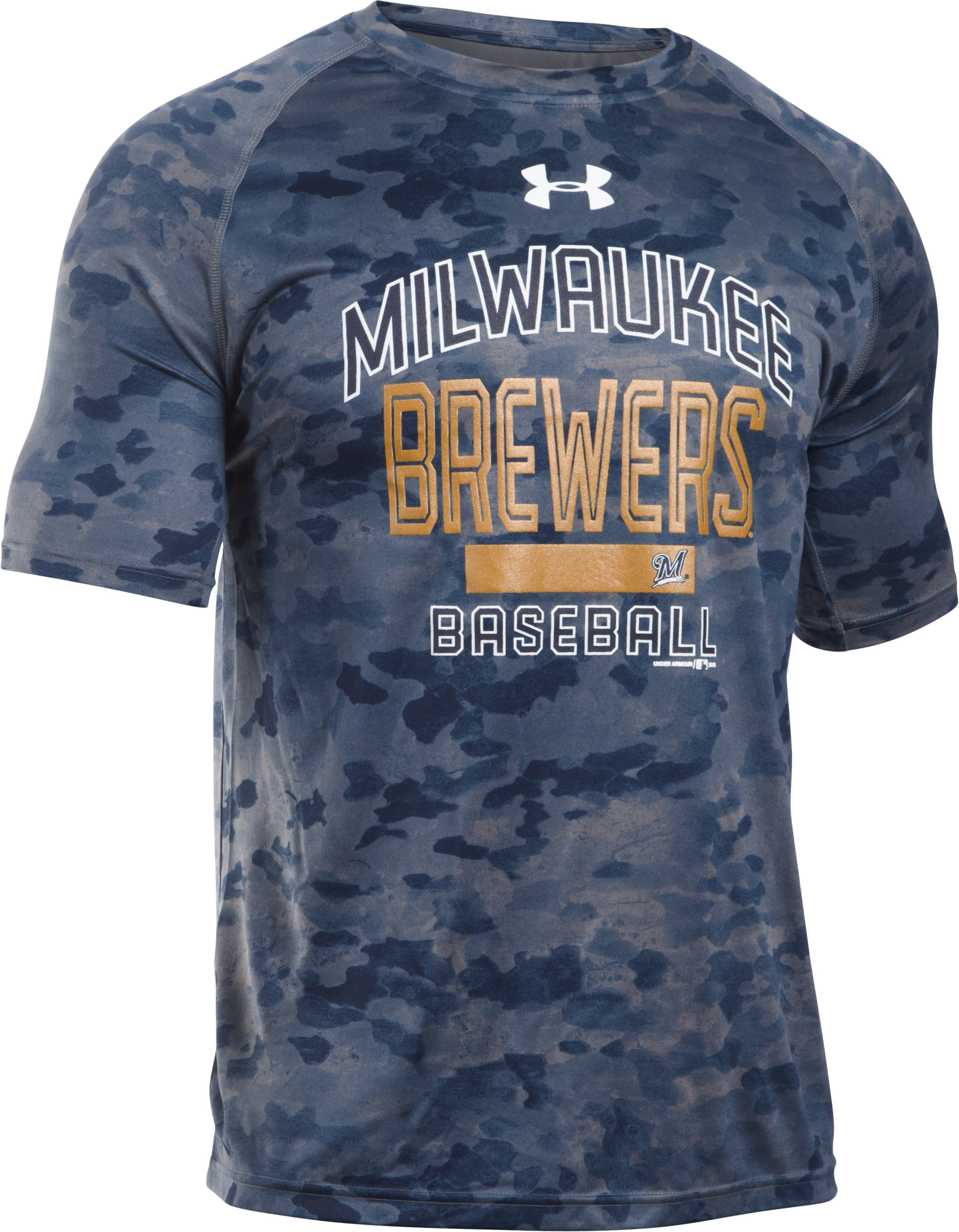 Men's Milwaukee Brewers Camo Tech™ T-Shirt, Midnight Navy