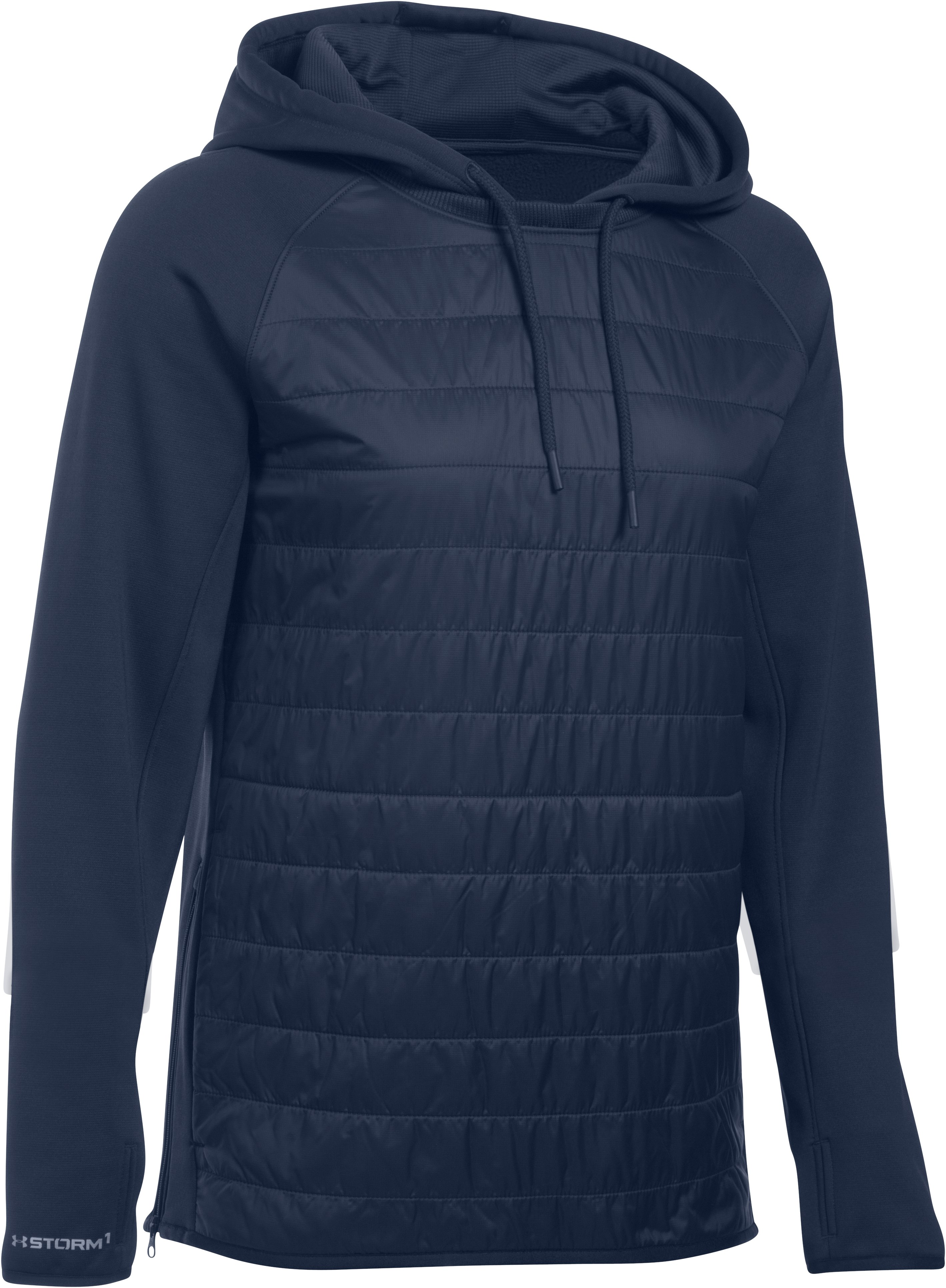 Women's UA Storm Swacket Hoodie, Midnight Navy