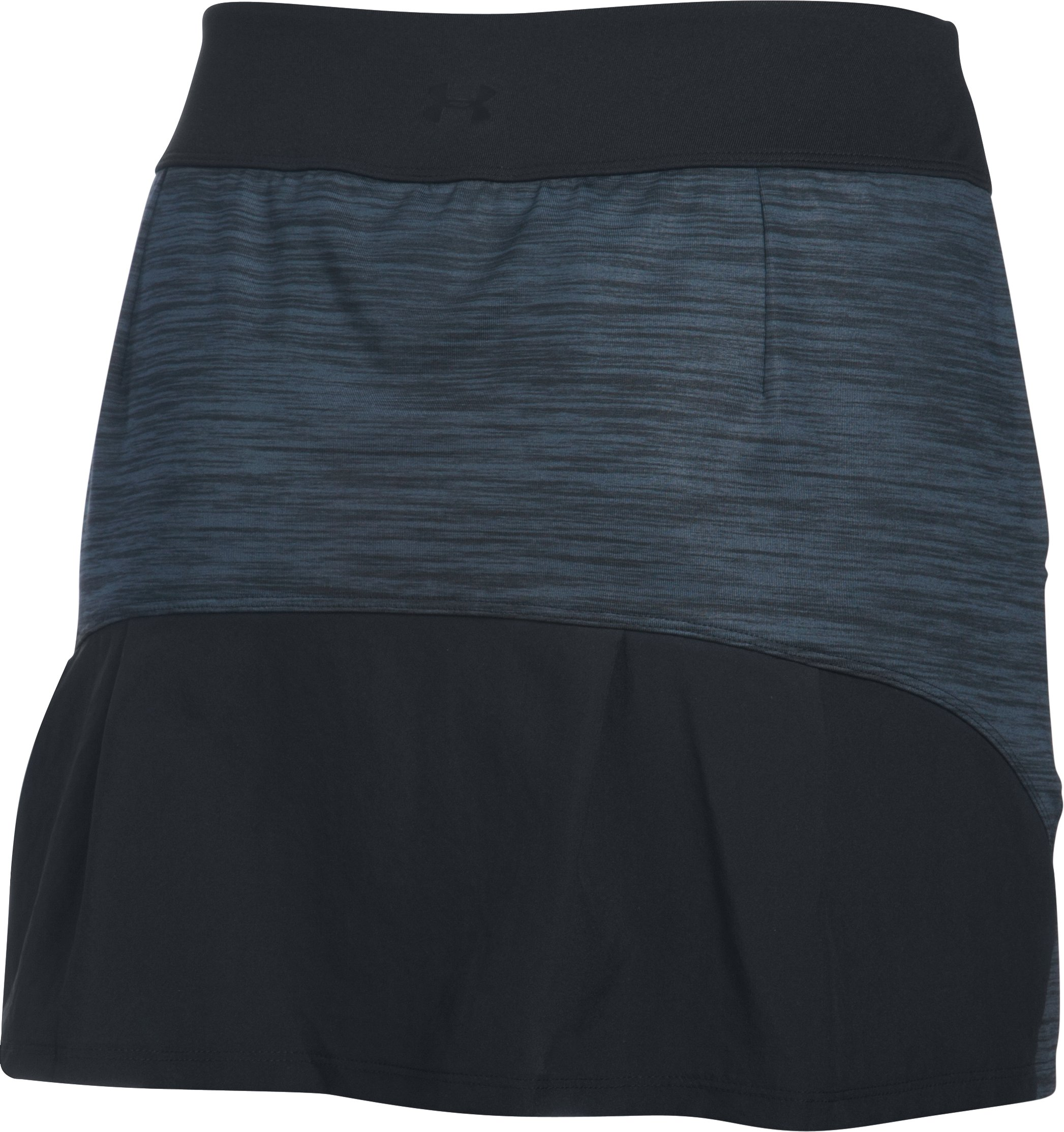 Women's UA Links Knit Skort, STEALTH GRAY, undefined