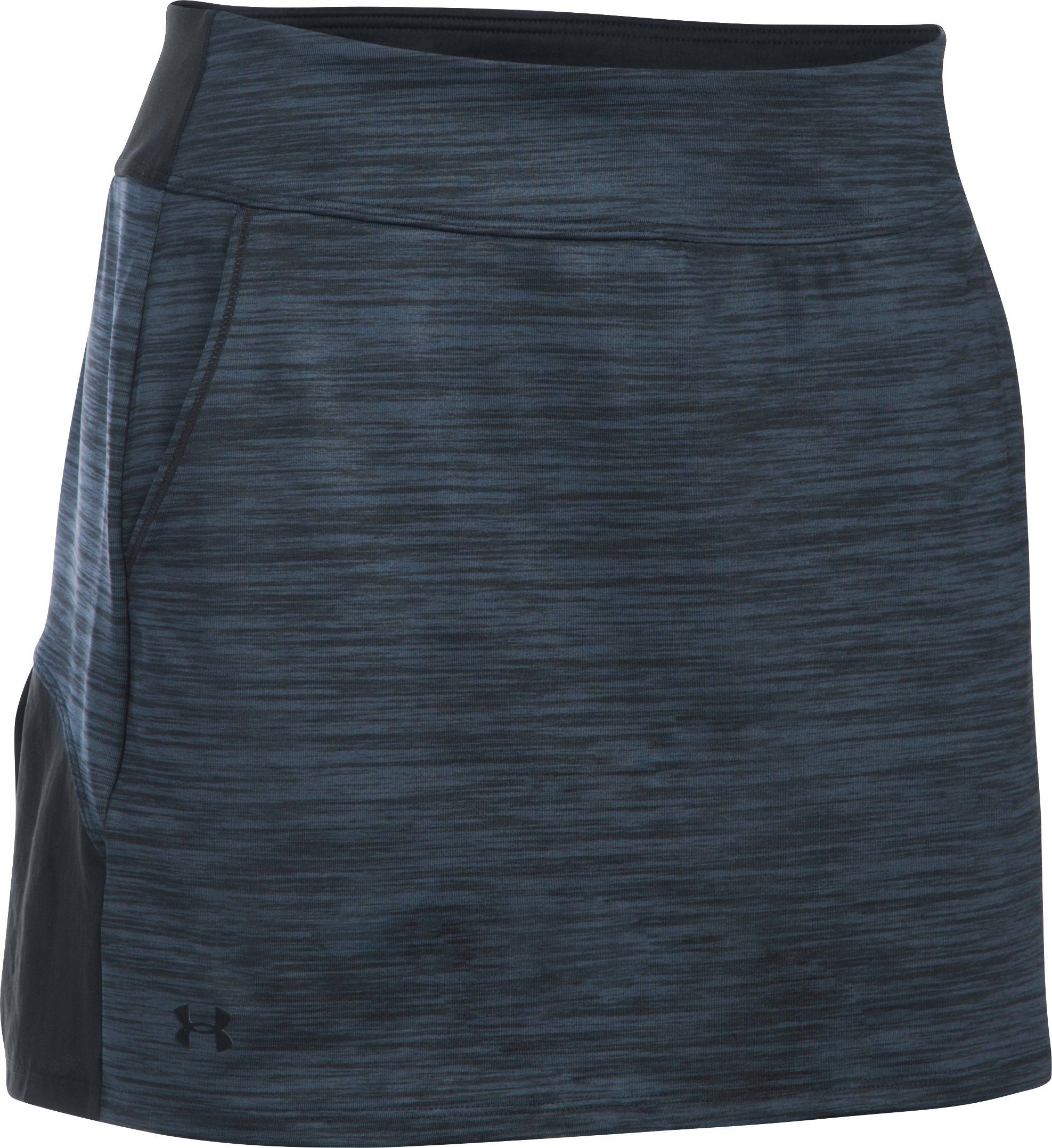Women's UA Links Knit Skort, STEALTH GRAY