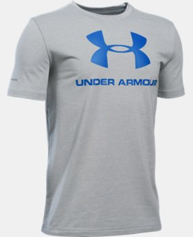 Best Seller Boys' UA Sportstyle Logo T-Shirt LIMITED TIME: FREE SHIPPING 2 Colors $19.99