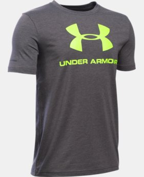 New Arrival  Boys' UA Sportstyle Logo T-Shirt LIMITED TIME: FREE SHIPPING 1 Color $22.99