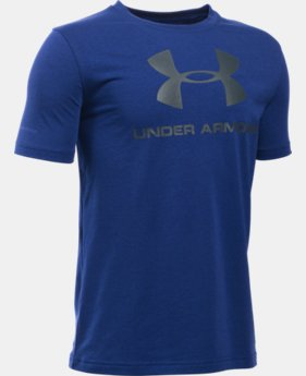 New to Outlet Boys' UA Sportstyle Logo T-Shirt  3 Colors $14.99