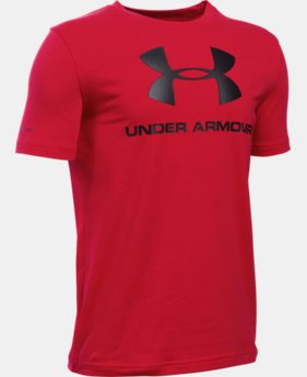 Best Seller Boys' UA Sportstyle Logo T-Shirt LIMITED TIME: FREE SHIPPING 4 Colors $19.99