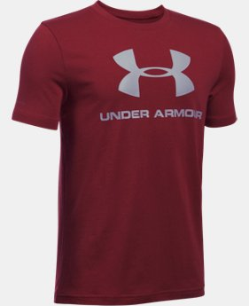 Boys' UA Sportstyle Logo T-Shirt  9 Colors $19.99