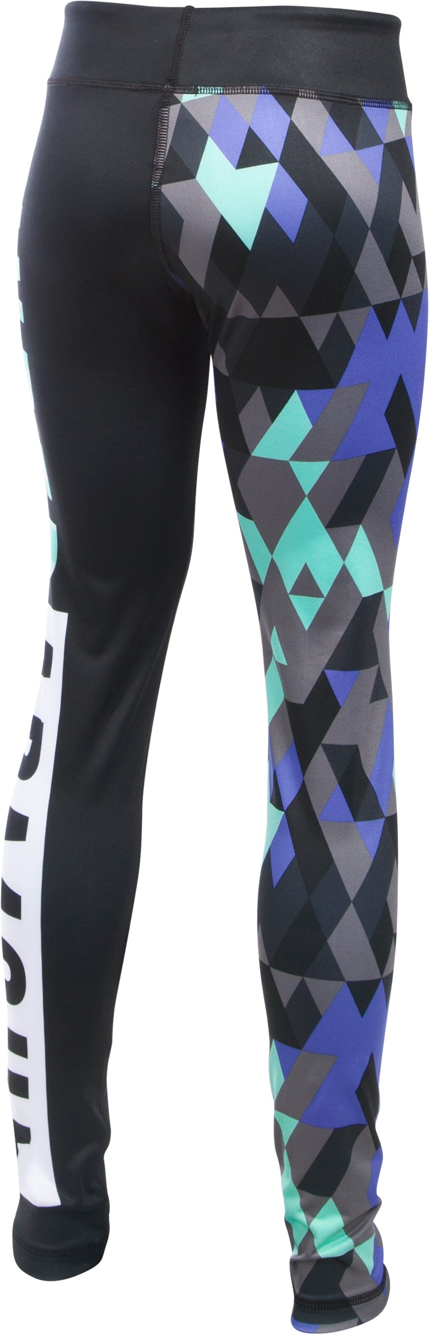 Girls' UA Mix Master Tri Meta Leggings, Black , undefined