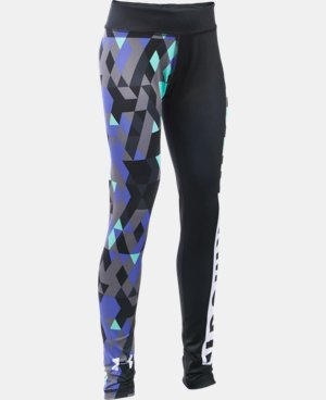 New Arrival  Girls' UA Mix  Master Tri Meta Leggings   $64.99