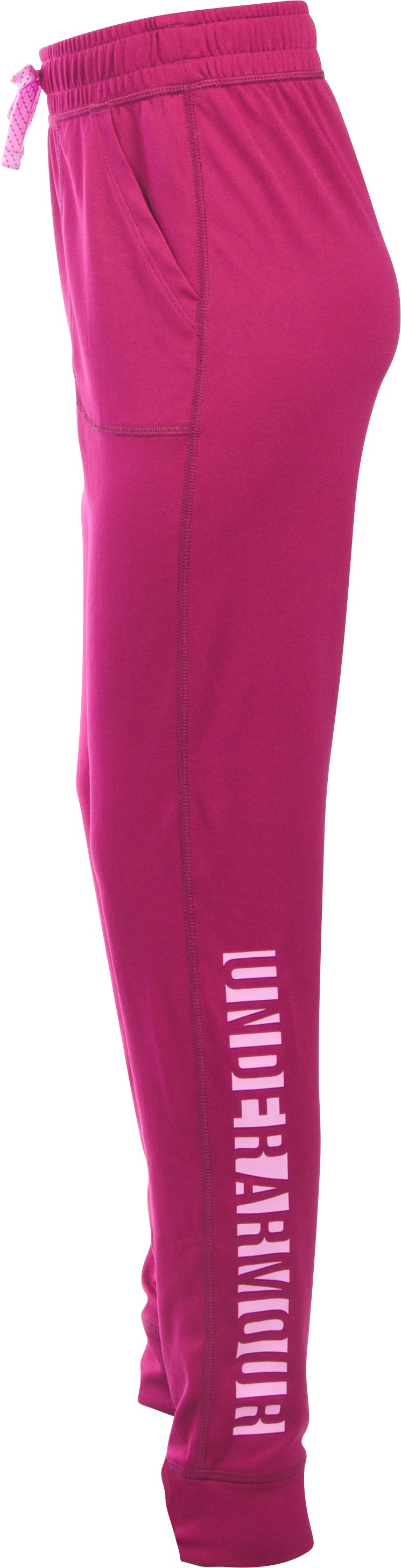 Girls' UA Graphic Tech™ Joggers, BLACK CHERRY, undefined