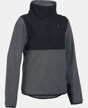 New Arrival  Girls' UA ColdGear® Infrared Survivor Fleece Half-Snap  1 Color $74.99