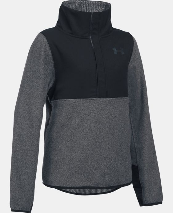 Girls' UA ColdGear® Infrared Survivor Fleece Half-Snap  1 Color $56.24