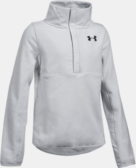 New Arrival Girls' UA ColdGear® Infrared Survivor Fleece Half-Snap   $64.99