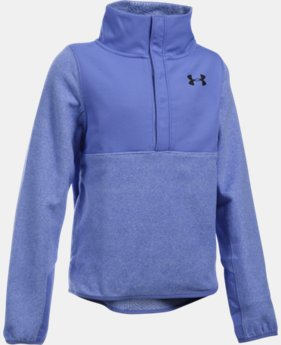 Girls' UA ColdGear® Infrared Fleece Half-Snap  4 Colors $29.24