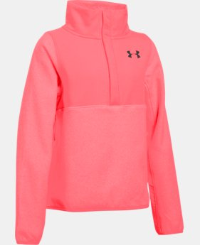 Girls' UA ColdGear® Infrared Survivor Fleece Half-Snap LIMITED TIME OFFER + FREE U.S. SHIPPING  $48.74