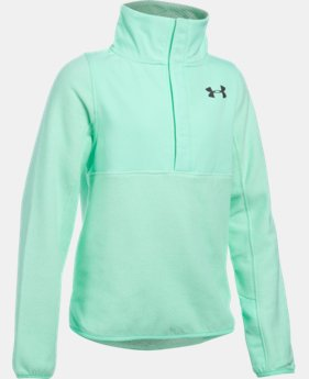 Girls' UA ColdGear® Infrared Survivor Fleece Half-Snap LIMITED TIME OFFER + FREE U.S. SHIPPING 2 Colors $48.74