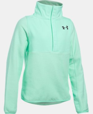 Girls' UA ColdGear® Infrared Survivor Fleece Half-Snap LIMITED TIME OFFER + FREE U.S. SHIPPING 5 Colors $48.74