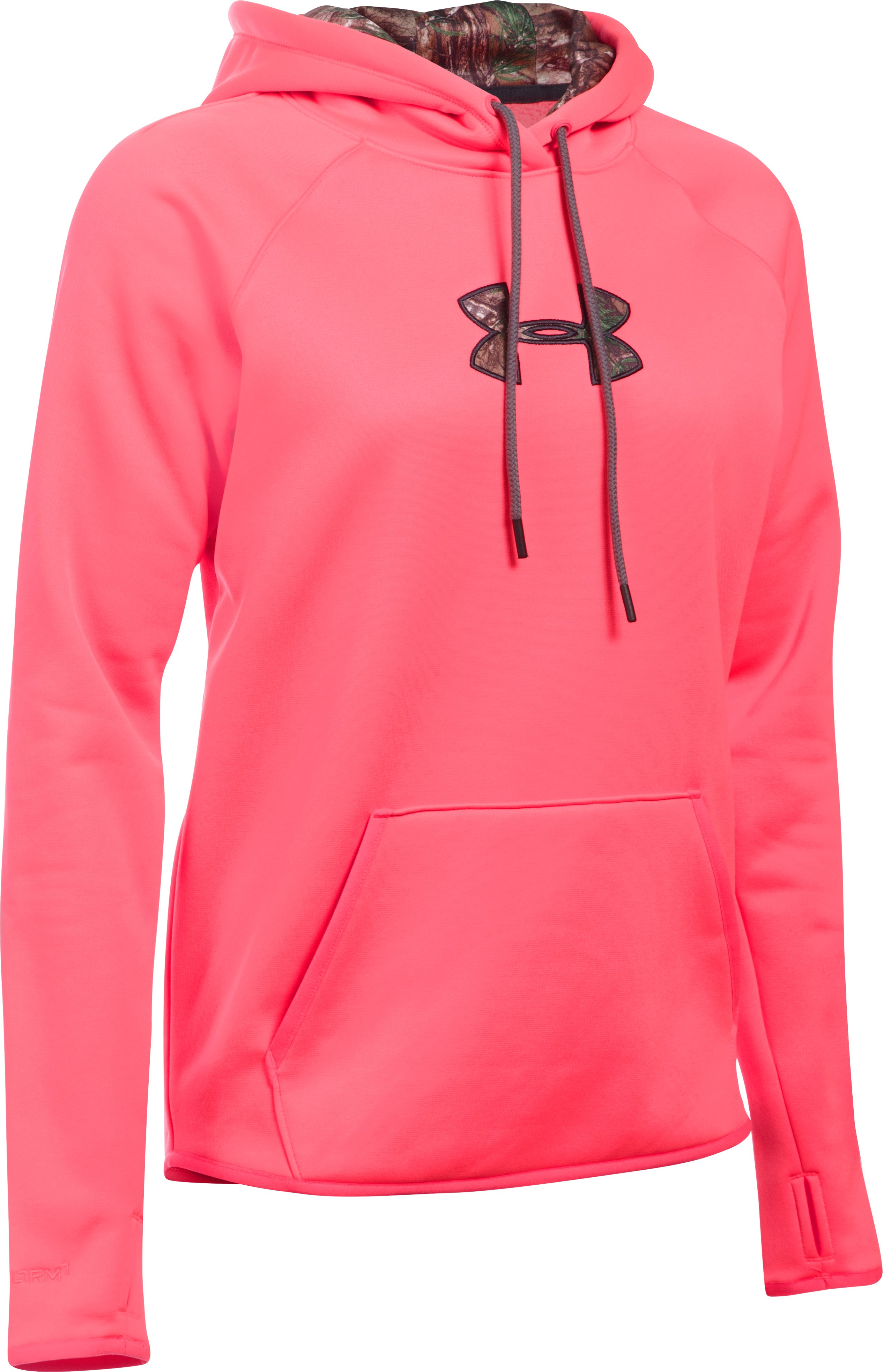 Women's UA Logo Caliber Hoodie, PINK CHROMA, undefined