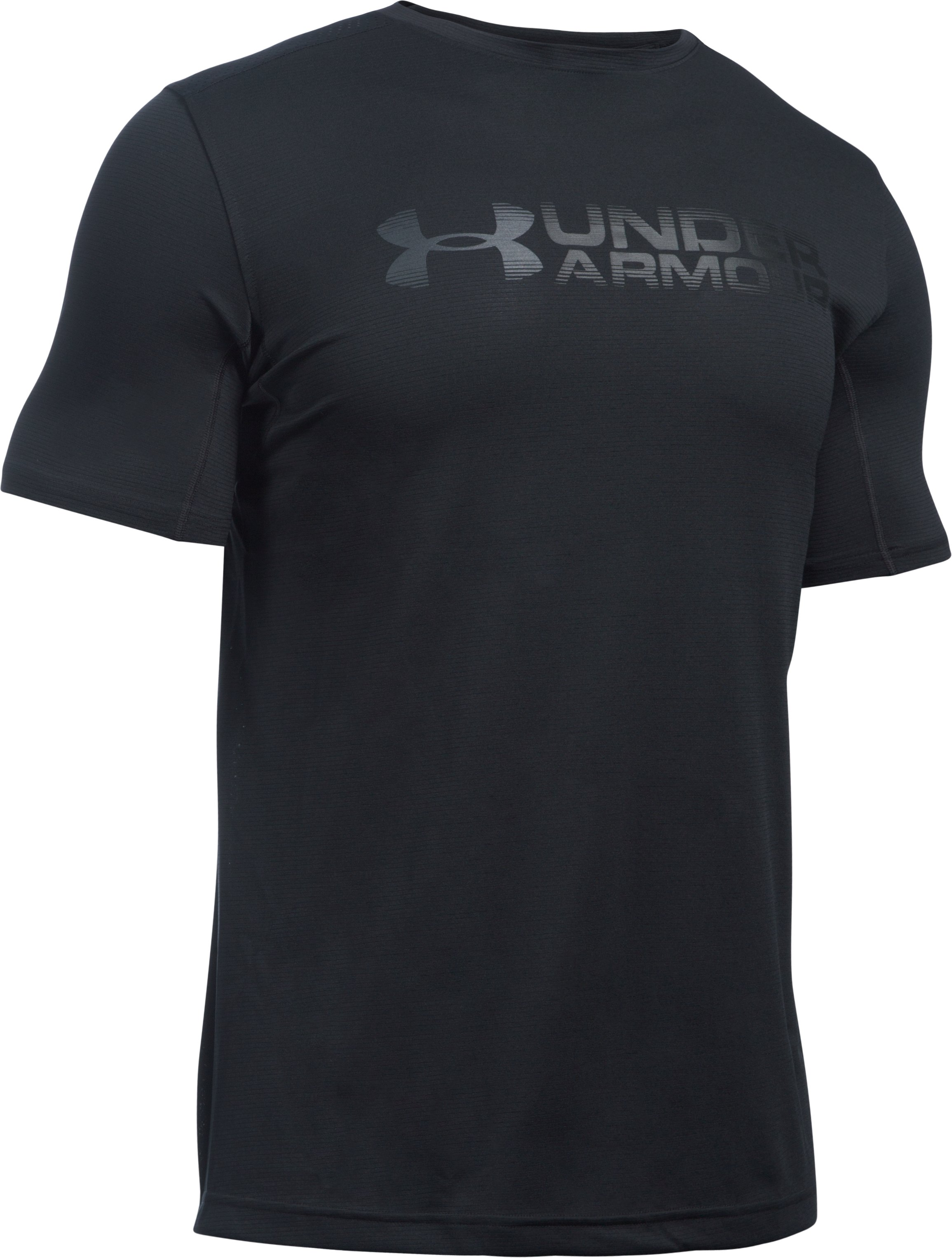 Men's UA Raid Turbo Sleeveless T-Shirt, Black , undefined