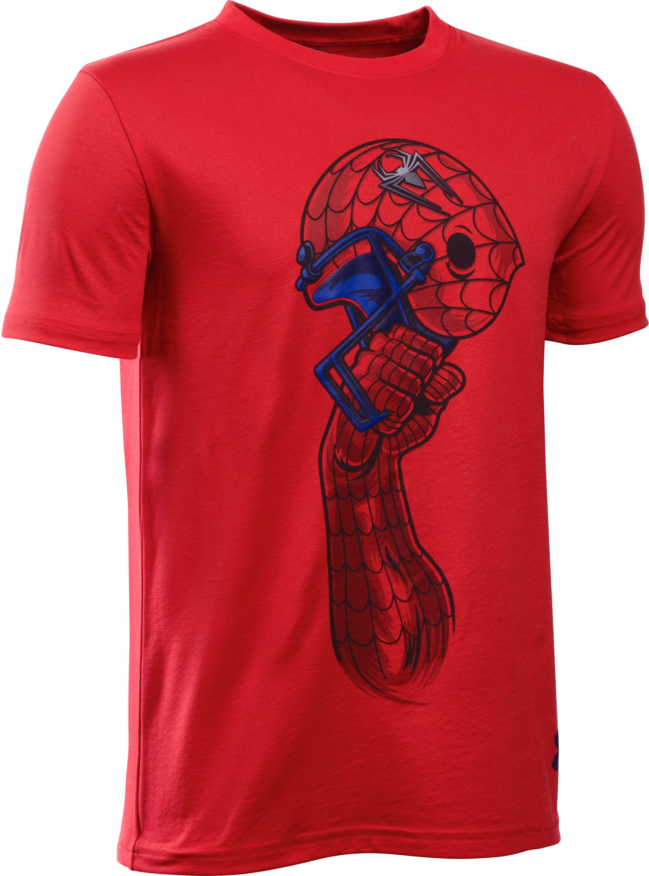 Boys' Under Armour® Alter Ego Spider-Man Helmet T- Shirt, Red